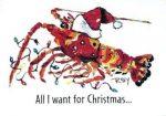 Crawfish Christmas card pack