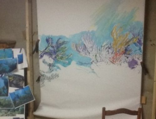 Humongous painting Part 2:  just add paint.