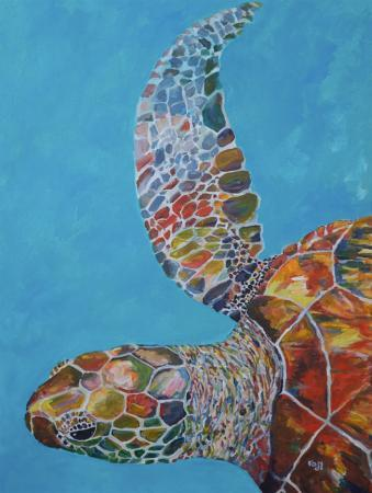 out of the blue turtle kim rody ocean art