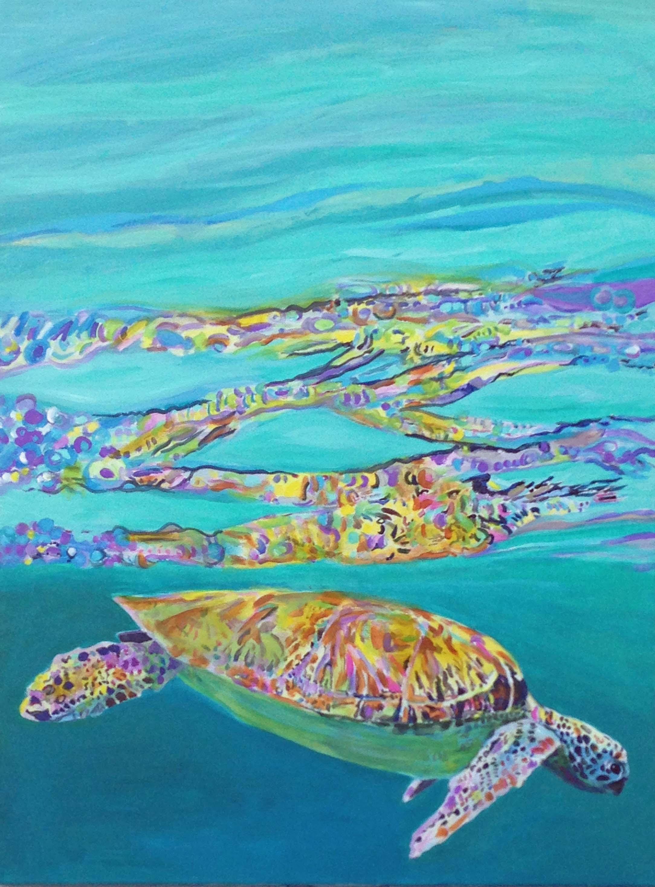 sea turtle tuesday u2013 kim rody ocean art
